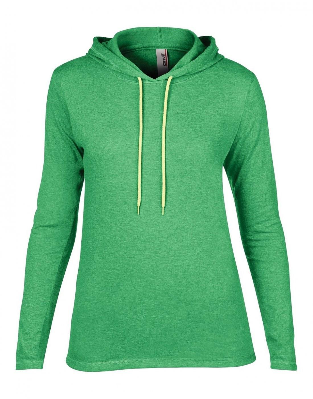 9355180f7f07 Personalised Anvil Women s Fashion Basic Long Sleeve Hooded Tee ...