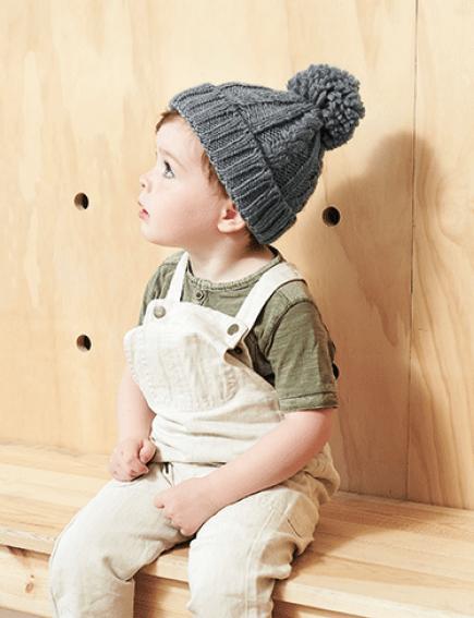 5b6087d0851 Infant Cable Knit Melange Beanie by Beechfield Headwear (B480A)