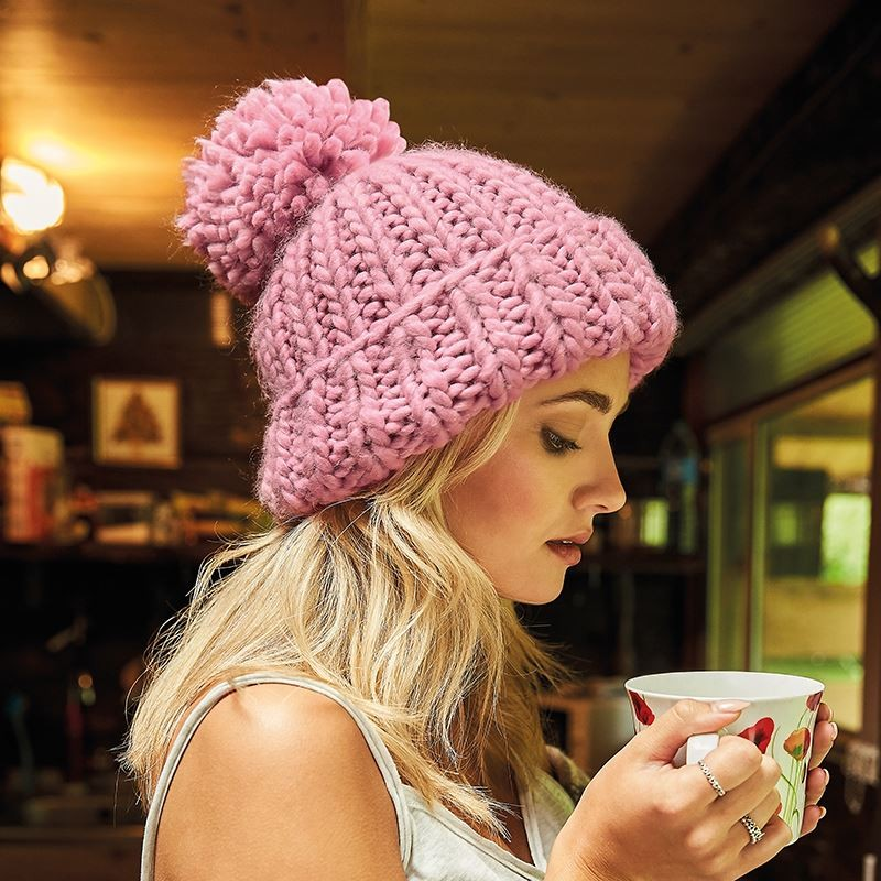 5ee6adbbf58 Personalised Oversized Hand-knitted Beanie (BC483)