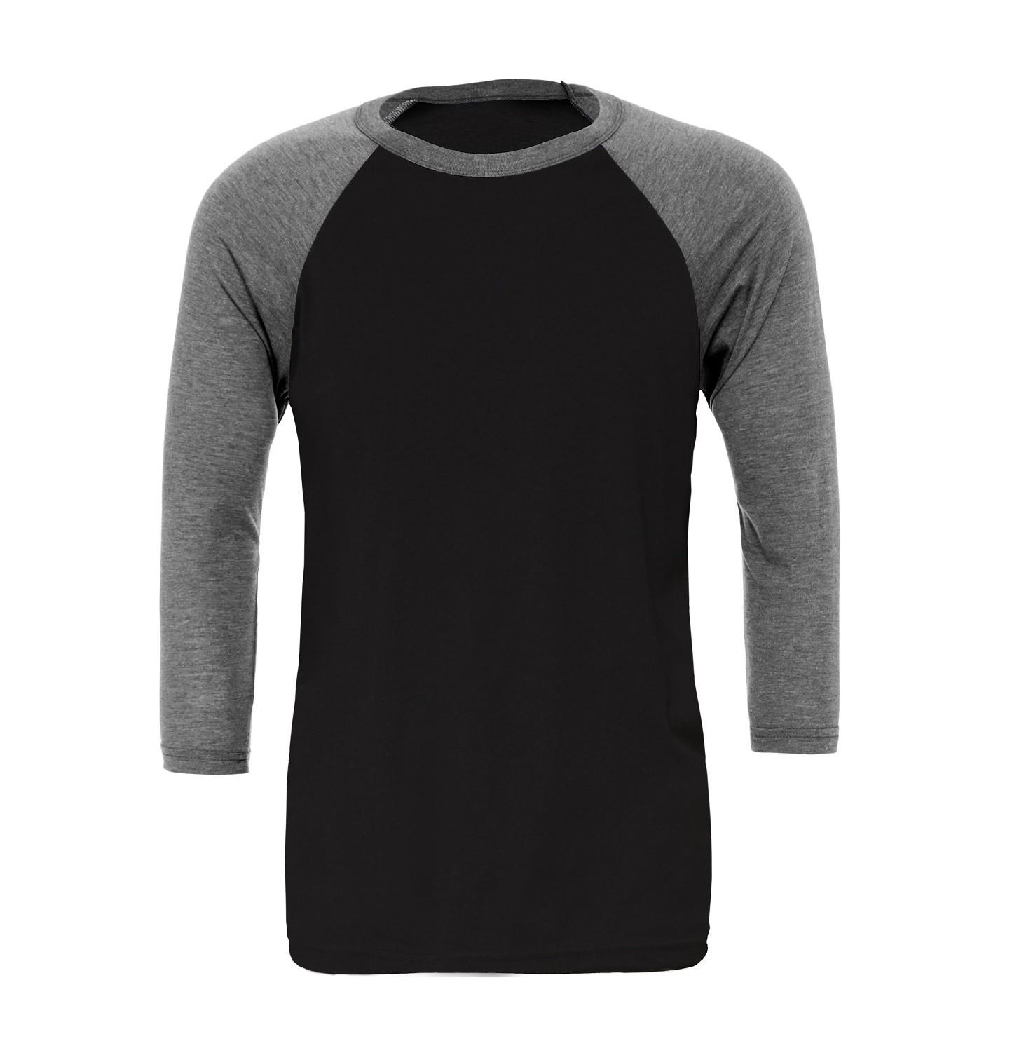 S White//Maroon Canvas Mens 3//4 Sleeve Baseball T-Shirt