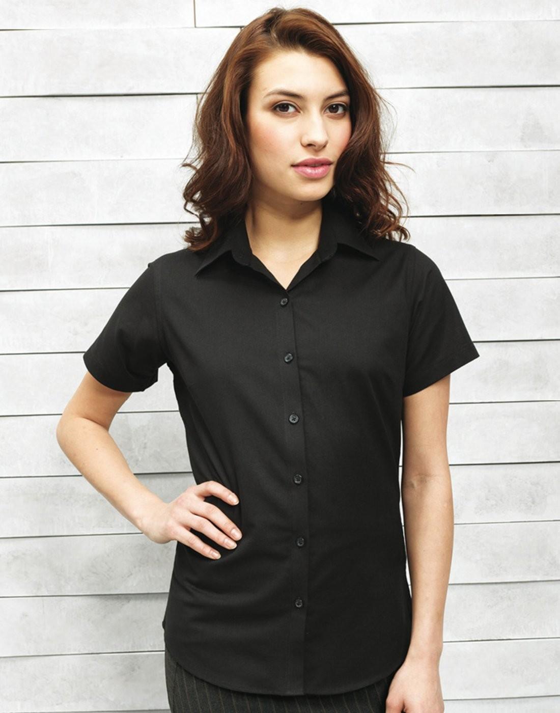 faa91f84827 Personalised Women s Signature Oxford Short Sleeve Shirt (PR336 ...